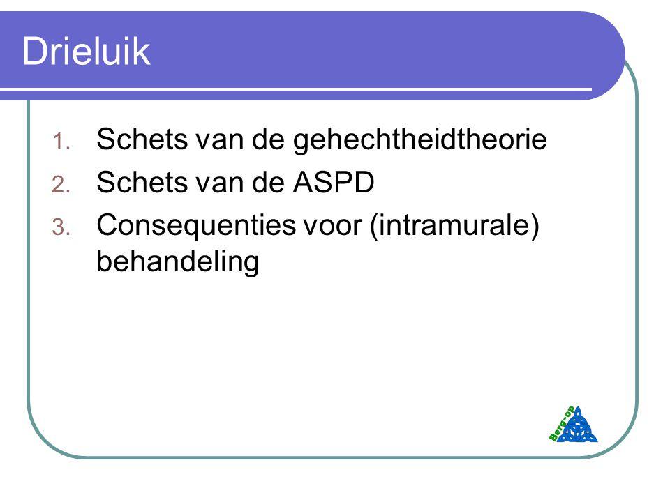 Drieluik Schets van de gehechtheidtheorie Schets van de ASPD