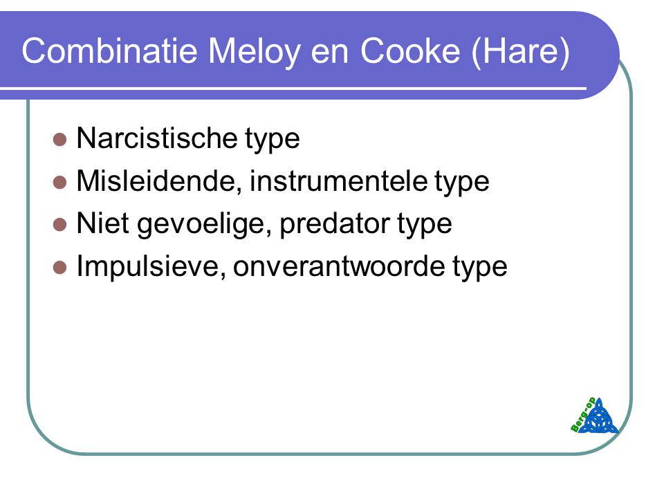 Combinatie Meloy en Cooke (Hare)