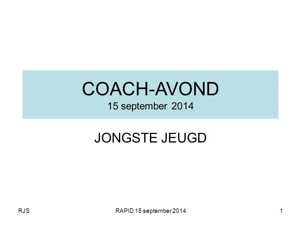 COACH-AVOND 15 september 2014