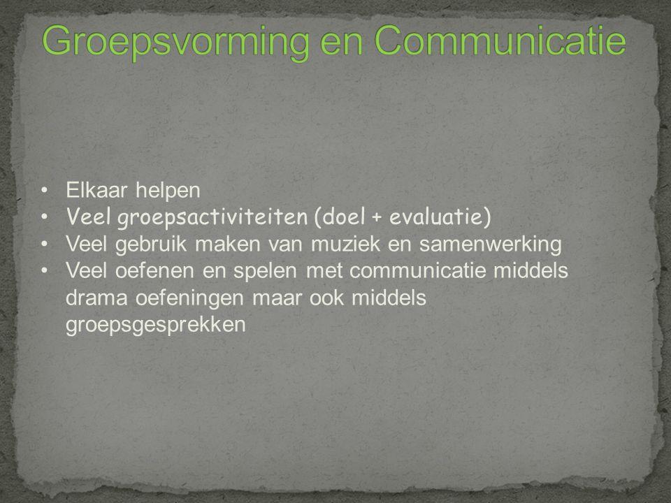 Groepsvorming en Communicatie