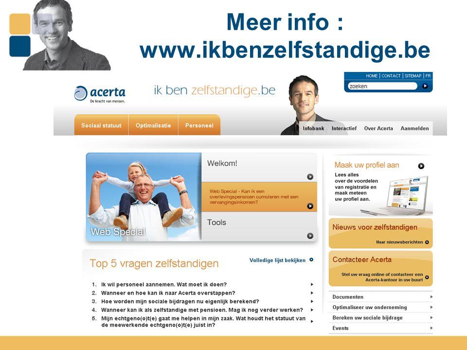 Meer info : www.ikbenzelfstandige.be