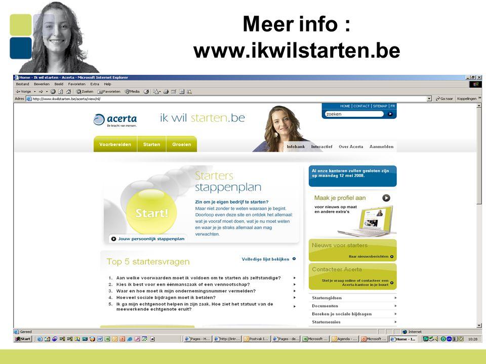 Meer info : www.ikwilstarten.be