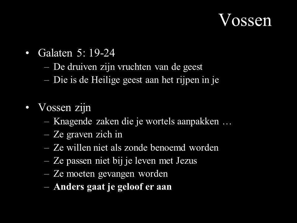 Vossen Galaten 5: 19-24 Vossen zijn