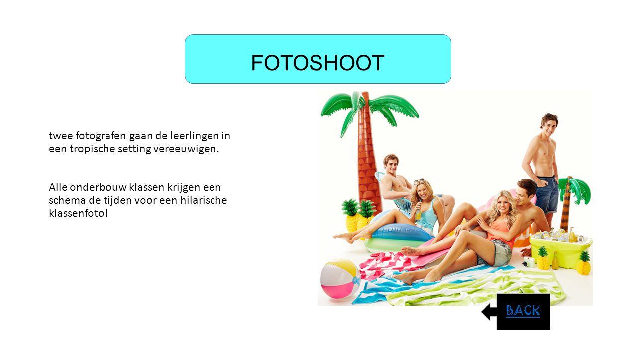 FOTOSHOOT twee fotografen gaan de leerlingen in een tropische setting vereeuwigen.
