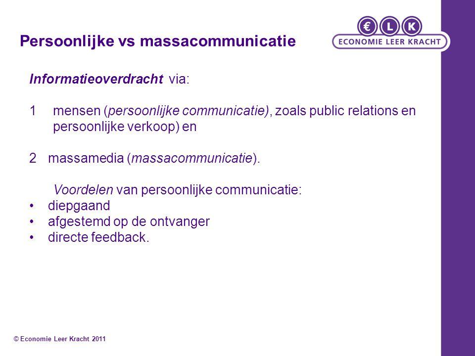 Persoonlijke vs massacommunicatie