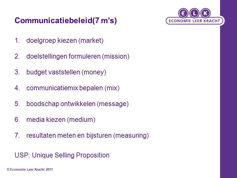Communicatiebeleid(7 m's)