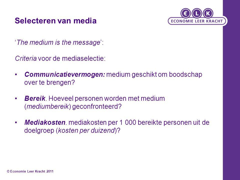 Selecteren van media 'The medium is the message':