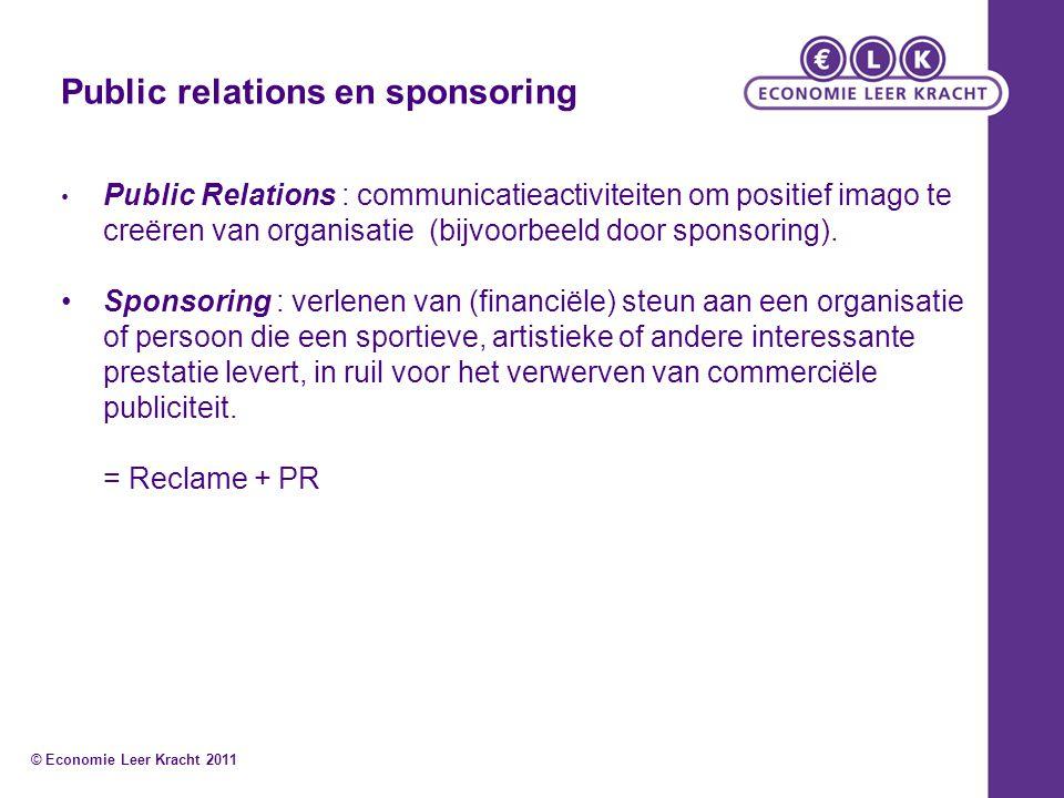 Public relations en sponsoring