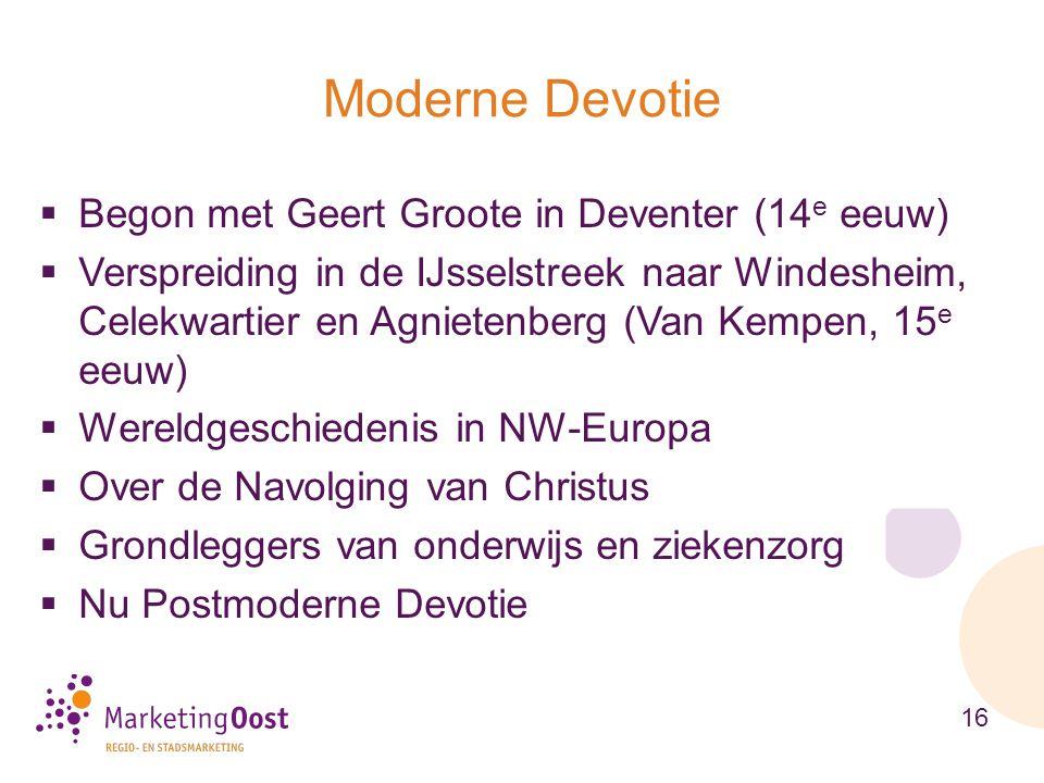 Moderne Devotie Begon met Geert Groote in Deventer (14e eeuw)