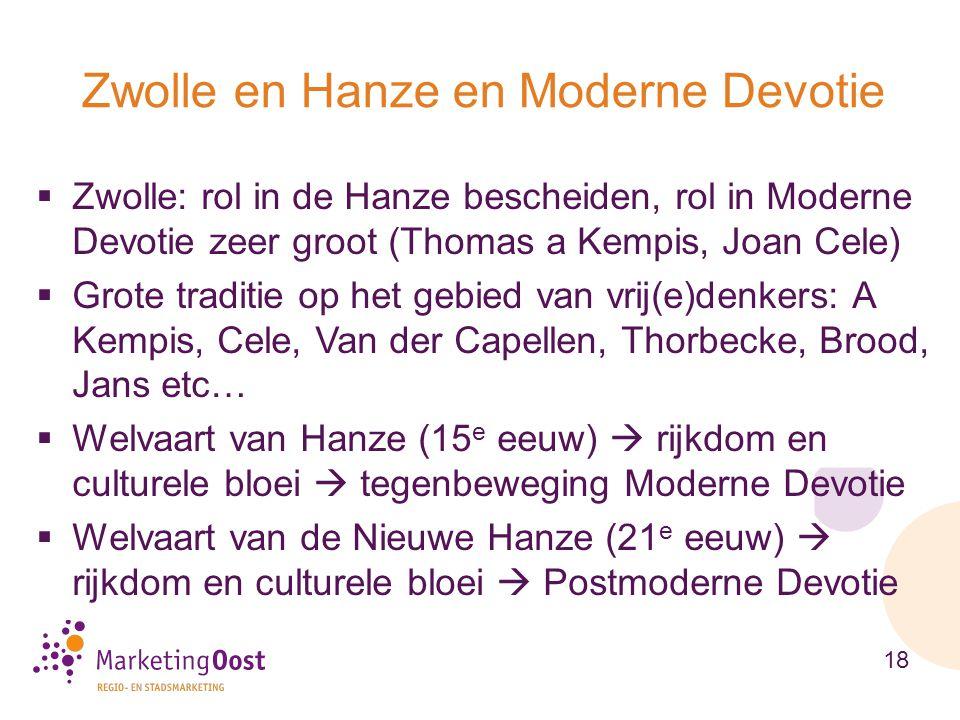 Zwolle en Hanze en Moderne Devotie