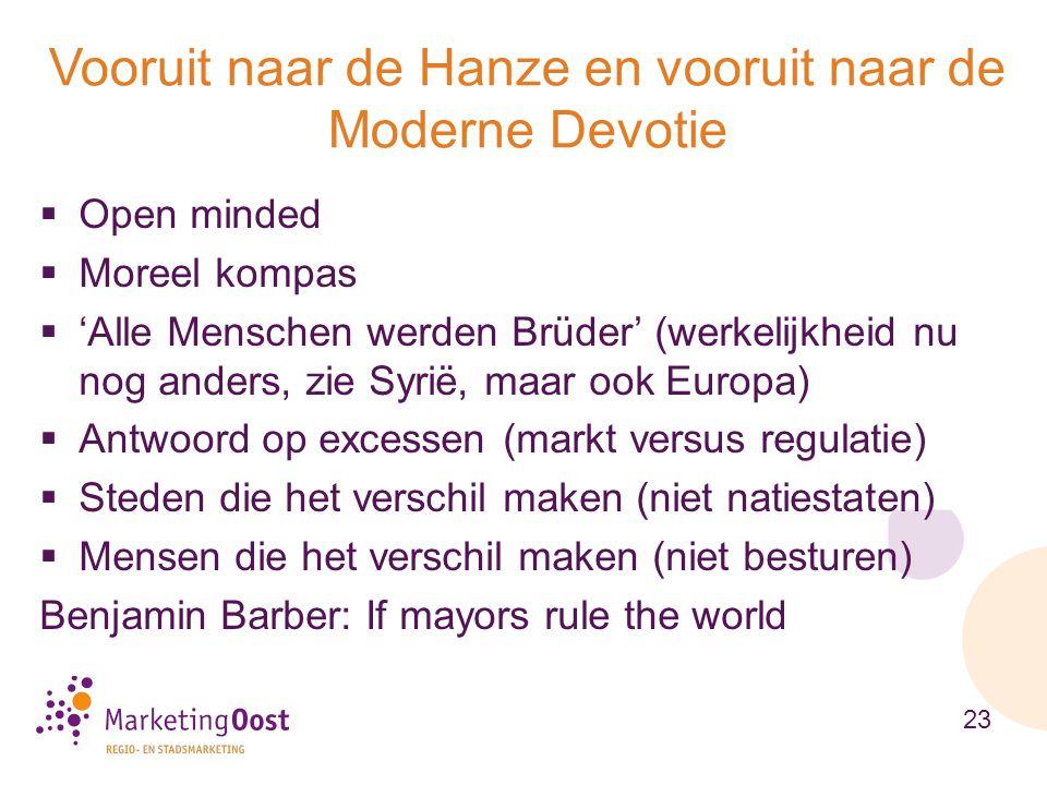 Vooruit naar de Hanze en vooruit naar de Moderne Devotie