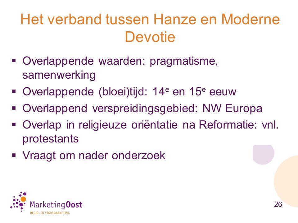 Het verband tussen Hanze en Moderne Devotie