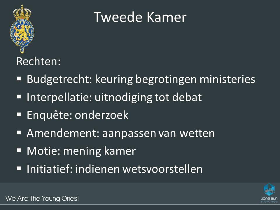 Tweede Kamer Rechten: Budgetrecht: keuring begrotingen ministeries