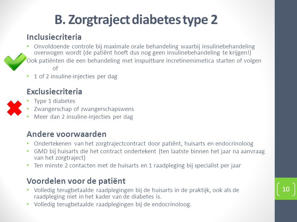 B. Zorgtraject diabetes type 2