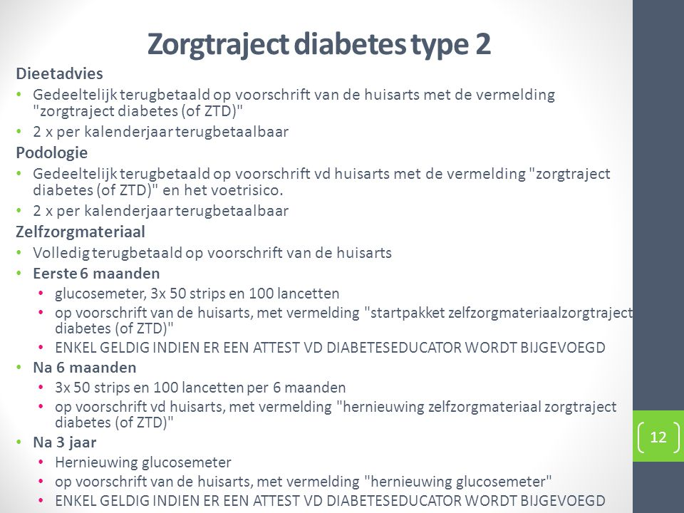 Zorgtraject diabetes type 2