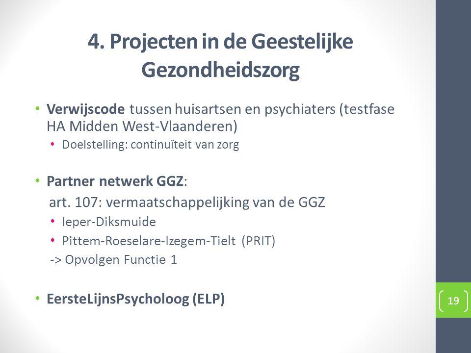 4. Projecten in de Geestelijke Gezondheidszorg