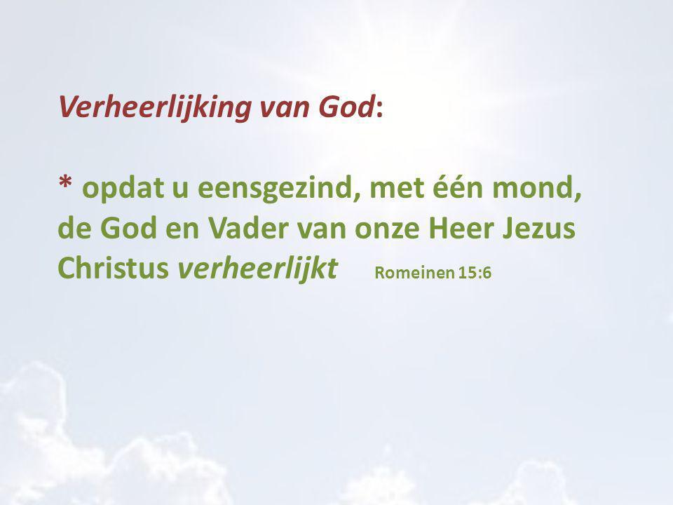 Verheerlijking van God: