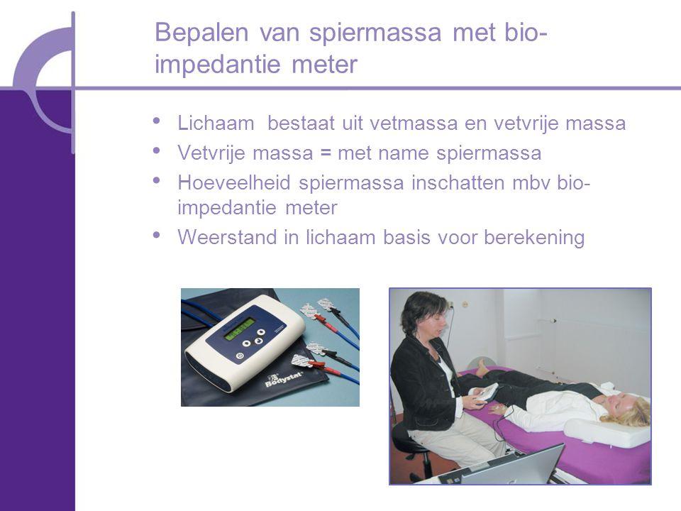 Bepalen van spiermassa met bio-impedantie meter