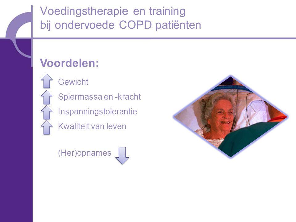 Voedingstherapie en training bij ondervoede COPD patiënten