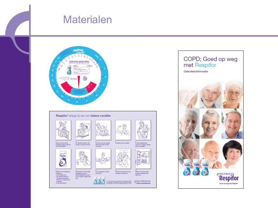 Materialen BMI schijf specifiek voor COPD