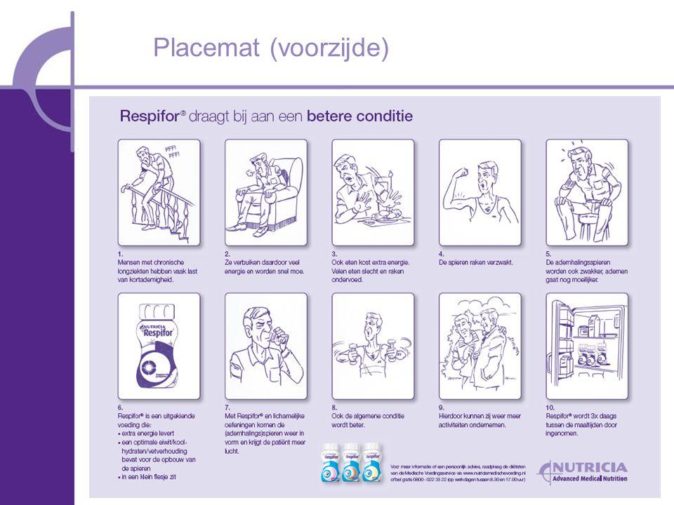 Placemat (voorzijde) RM uitleggen wat erop staat