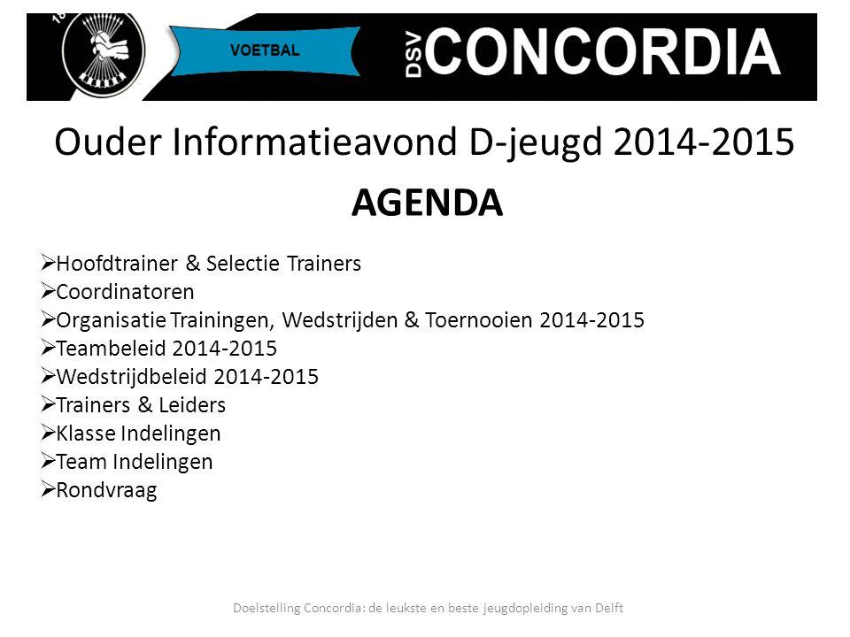 Ouder Informatieavond D-jeugd 2014-2015