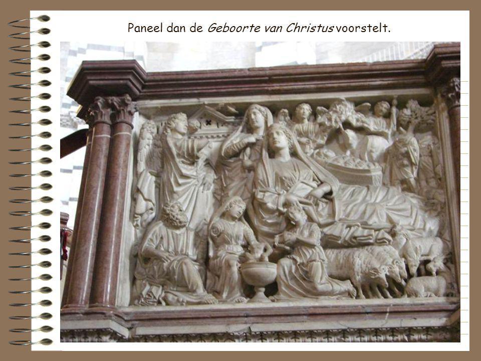 Paneel dan de Geboorte van Christus voorstelt.