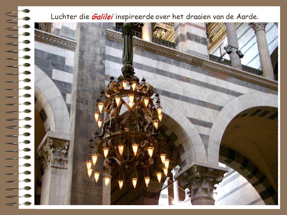 Luchter die Galilei inspireerde over het draaien van de Aarde.