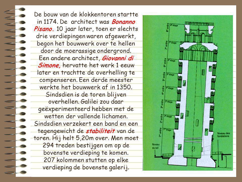De bouw van de klokkentoren startte in 1174