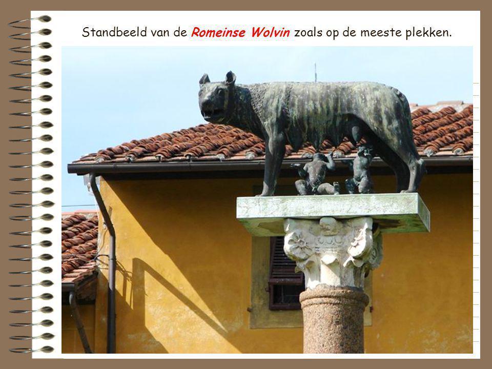 Standbeeld van de Romeinse Wolvin zoals op de meeste plekken.