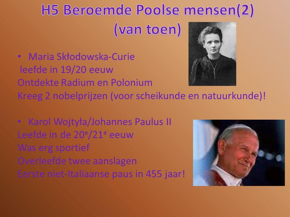 H5 Beroemde Poolse mensen(2) (van toen)