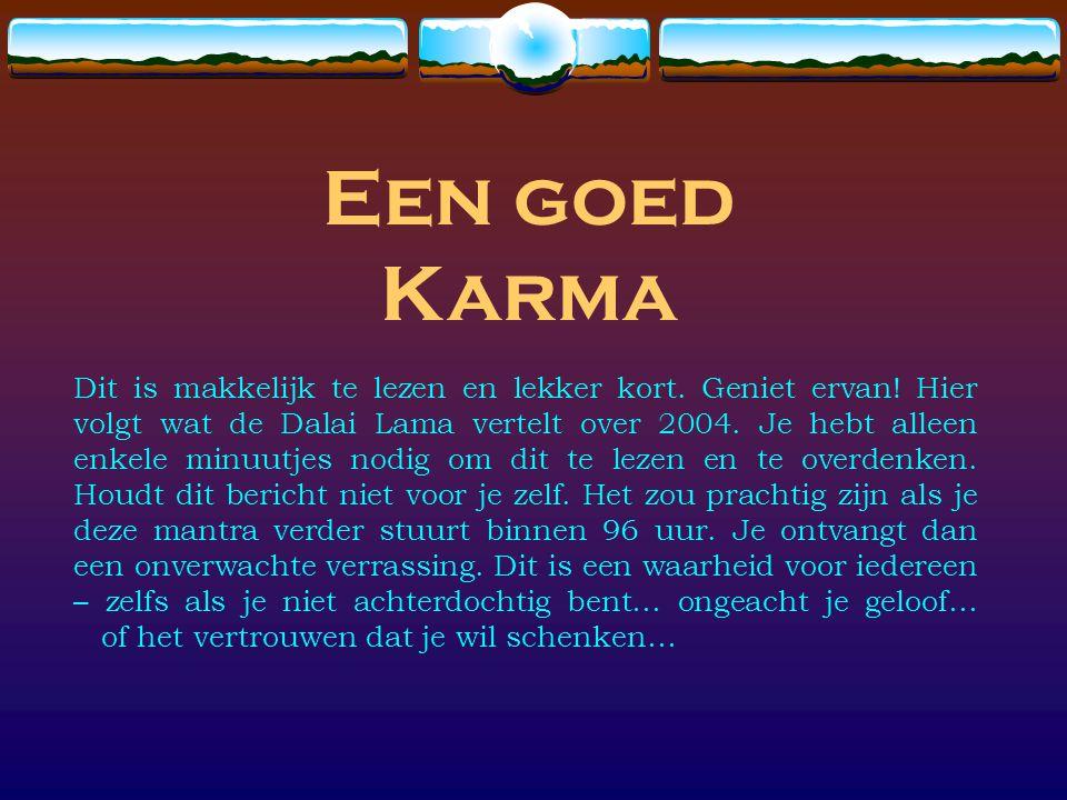 Een goed Karma