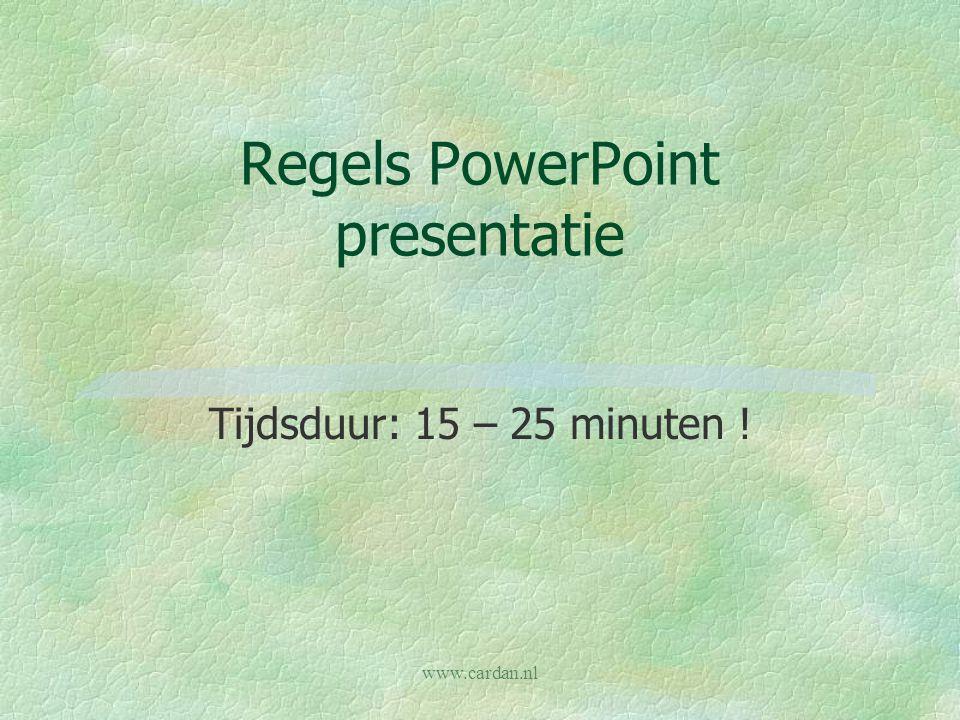 Regels PowerPoint presentatie