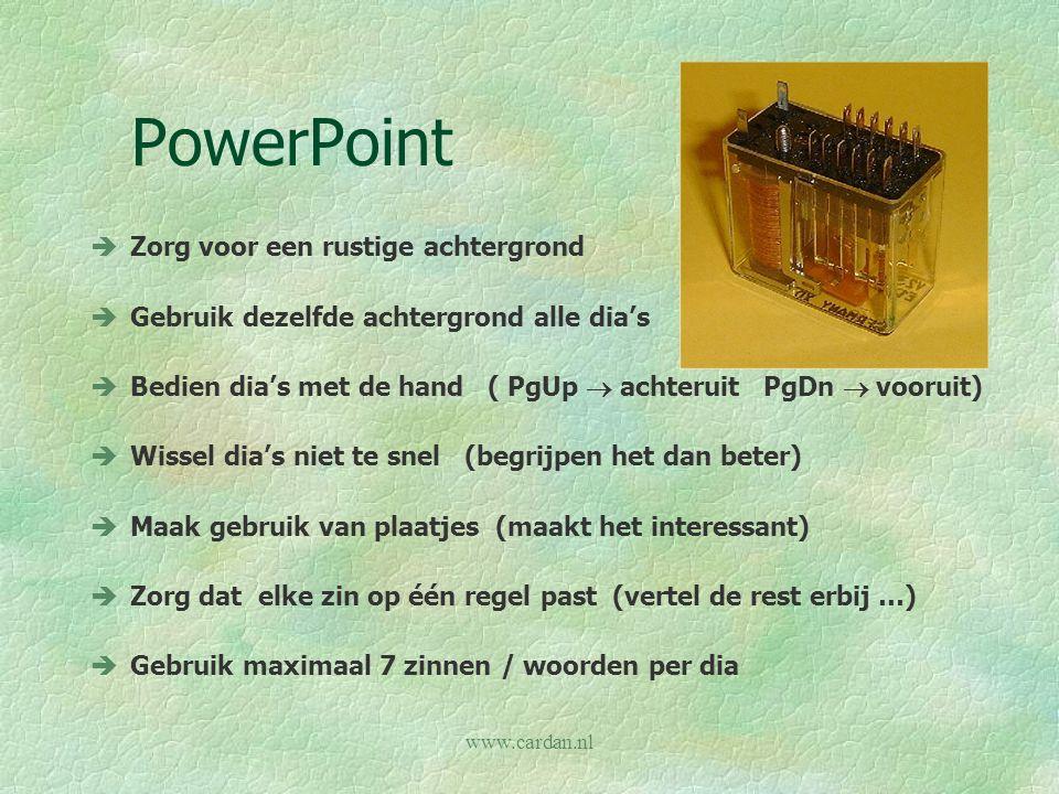 PowerPoint Zorg voor een rustige achtergrond