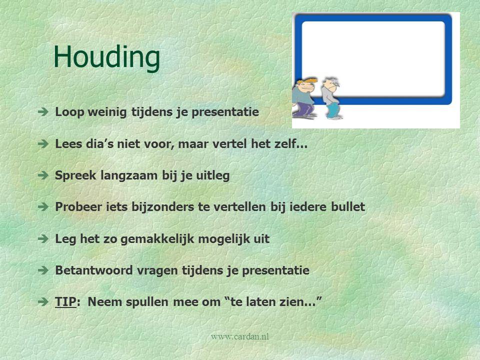Houding Loop weinig tijdens je presentatie