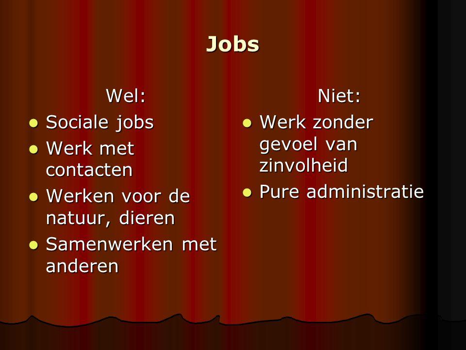 Jobs Wel: Sociale jobs Werk met contacten