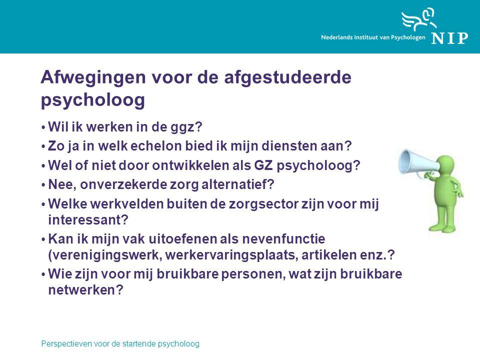 Afwegingen voor de afgestudeerde psycholoog