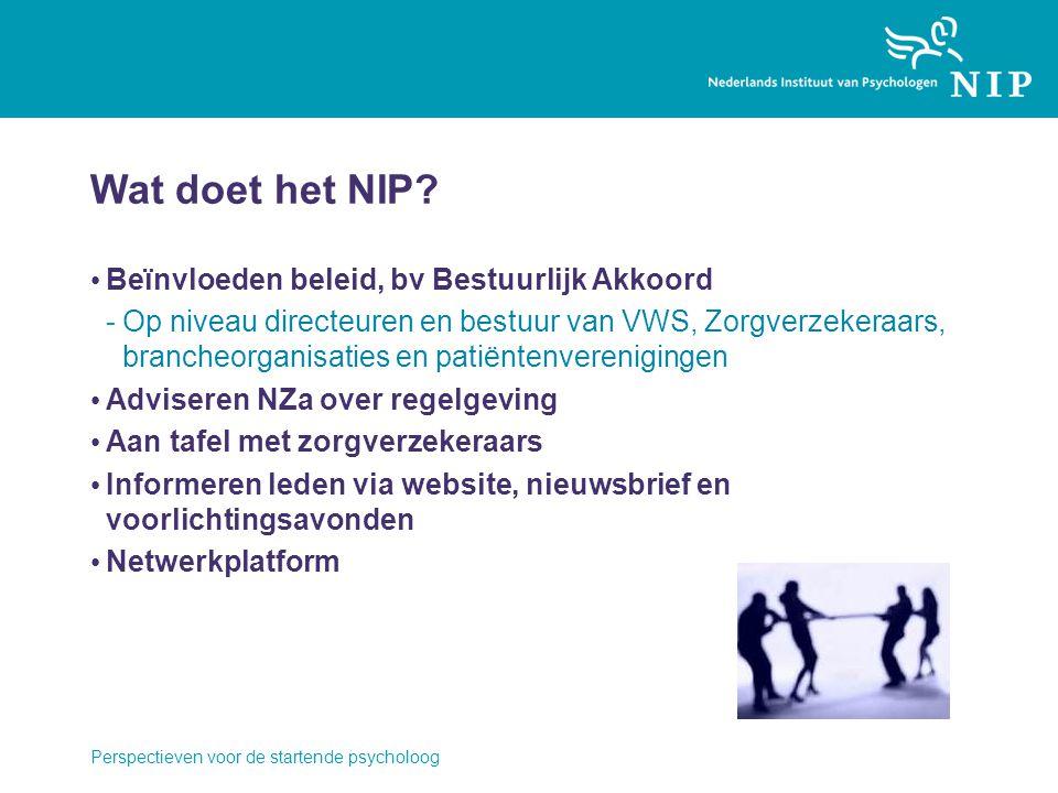 Wat doet het NIP Beïnvloeden beleid, bv Bestuurlijk Akkoord