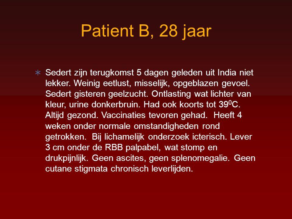 Patient B, 28 jaar