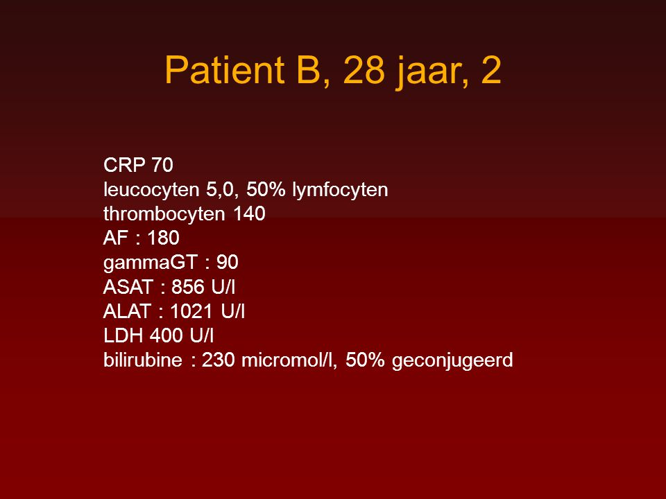 Patient B, 28 jaar, 2