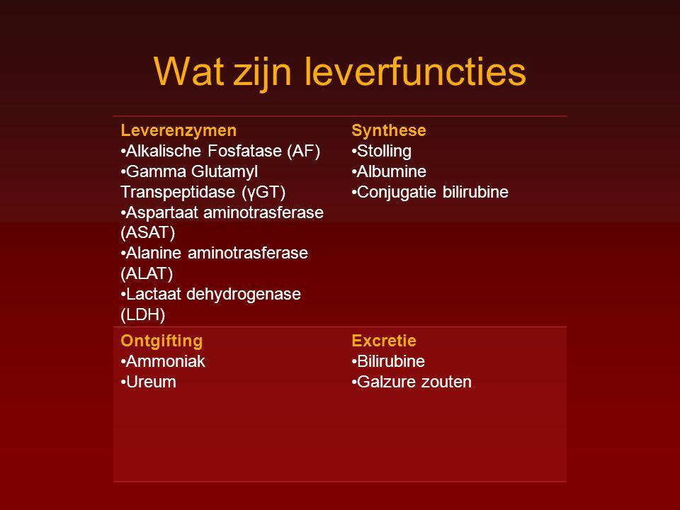 Wat zijn leverfuncties