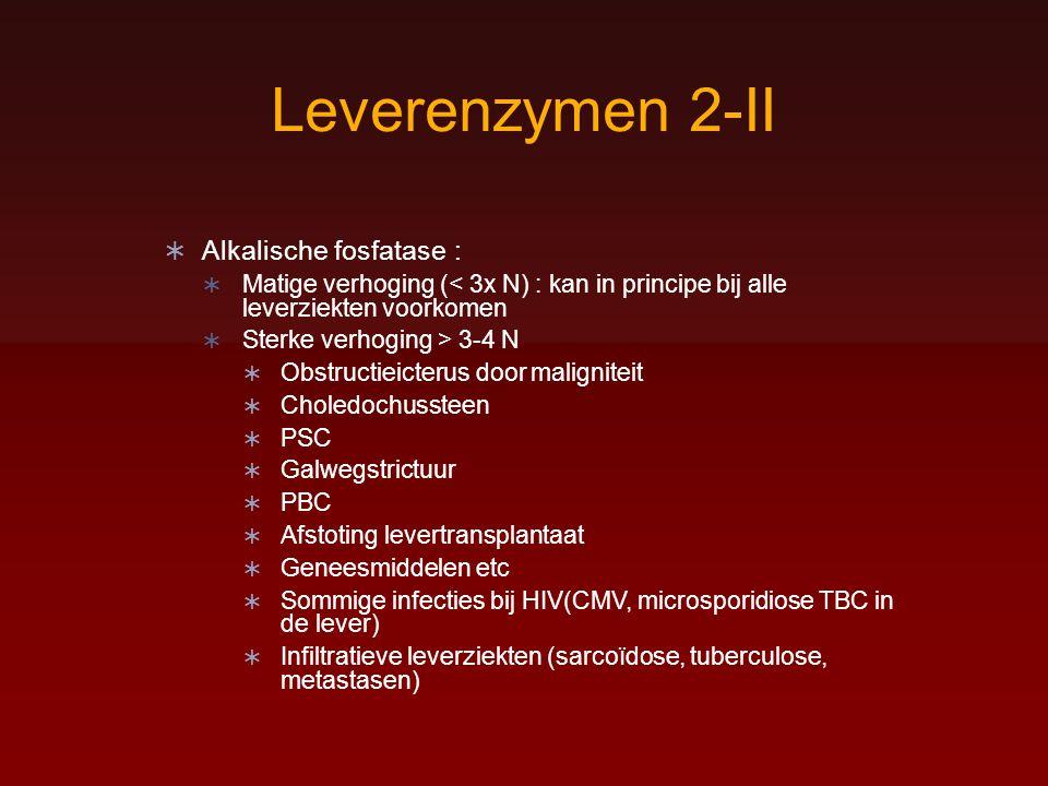 Leverenzymen 2-II Alkalische fosfatase :
