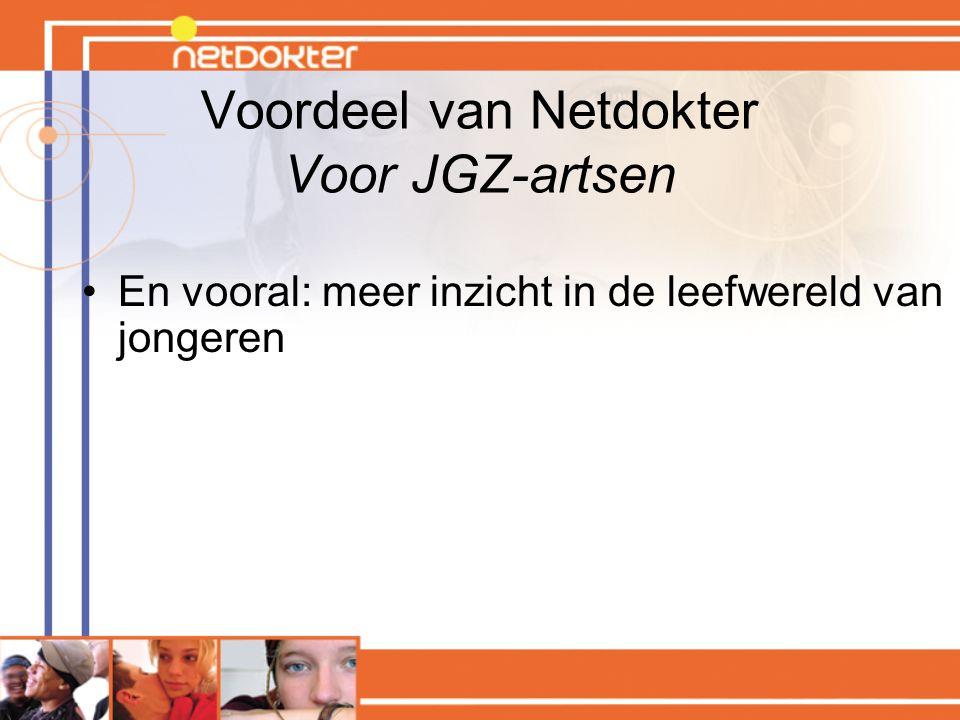 Voordeel van Netdokter Voor JGZ-artsen