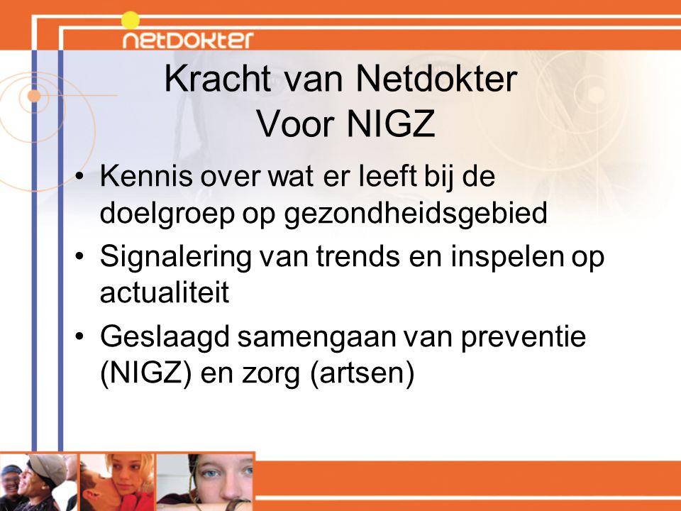 Kracht van Netdokter Voor NIGZ