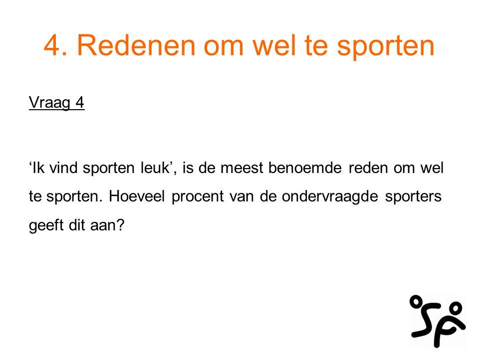 4. Redenen om wel te sporten