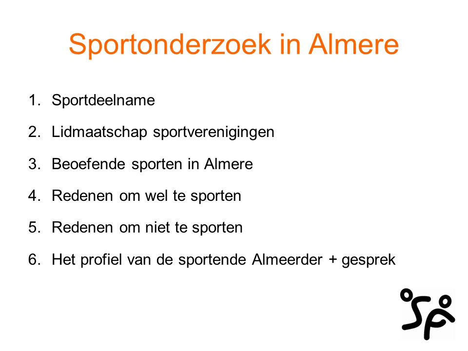 Sportonderzoek in Almere
