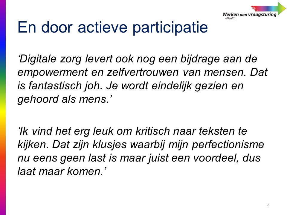 En door actieve participatie