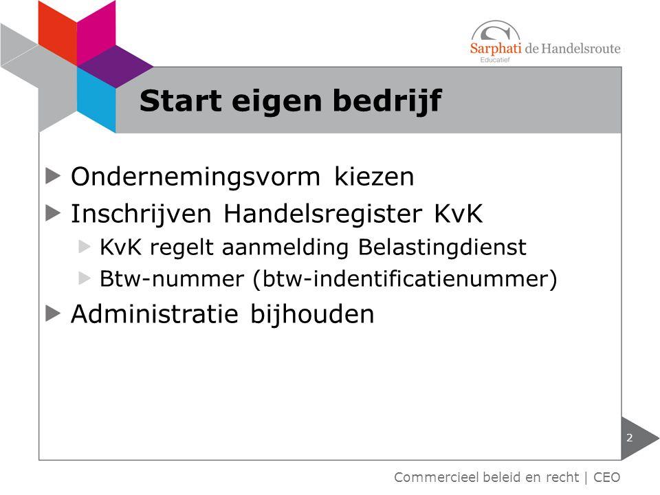 Start eigen bedrijf Ondernemingsvorm kiezen