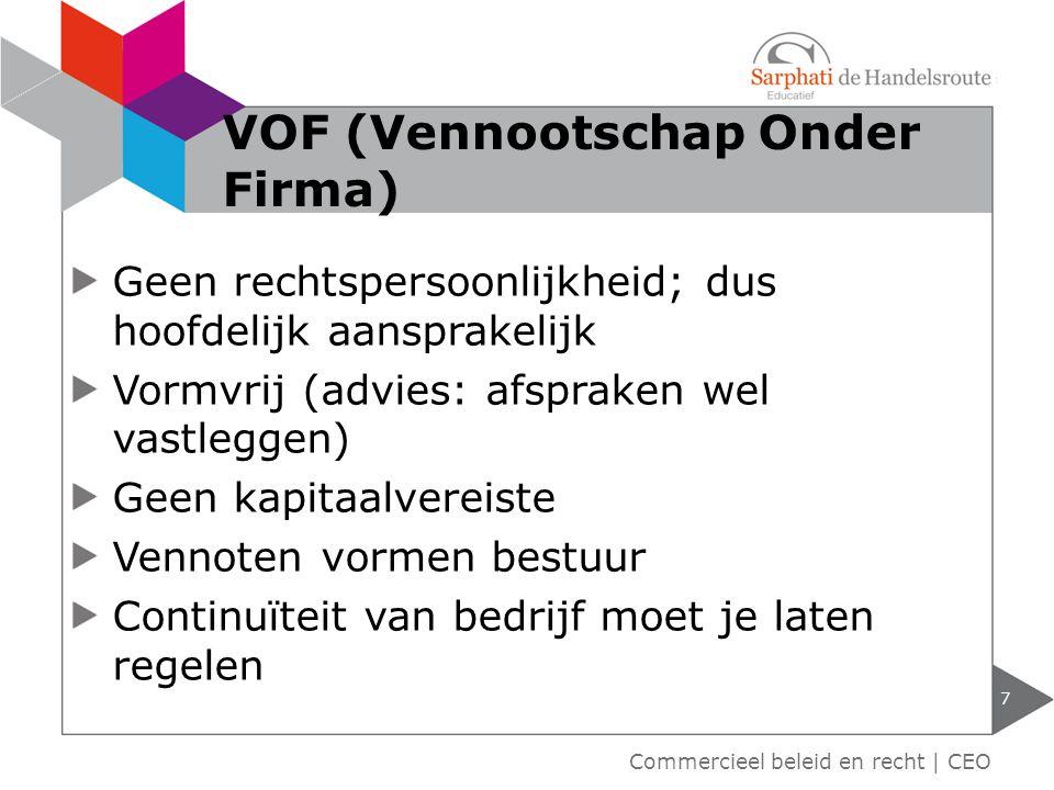 VOF (Vennootschap Onder Firma)