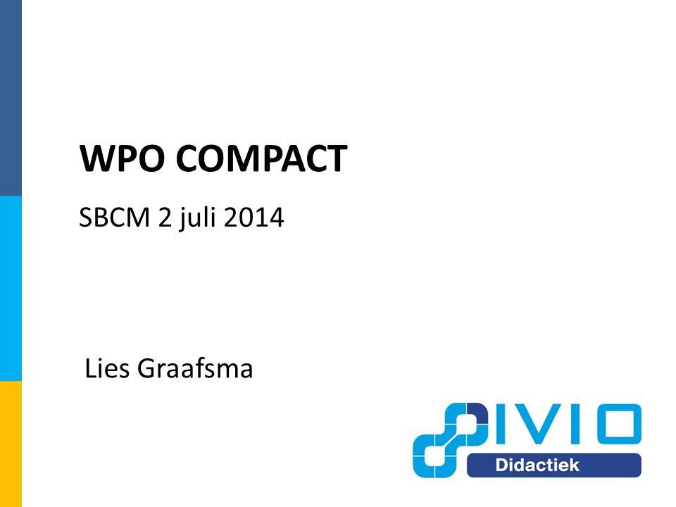 WPO COMPACT SBCM 2 juli 2014 Lies Graafsma